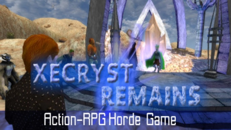 Video Game News Xecryst Remains Trailer Action RPG horde game