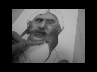 Портрет простым карандашом. Григорий Распутин.