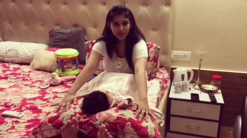 How to put a baby to sleep/Indian way of putting babies to sleep