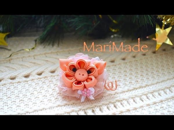 Новый Год 2019 Подарок Магнит Свинка Канзаши МК Kanzashi Fridge Magnet