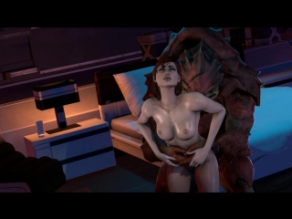 vk.com/watchgirls Rule34 Mass Effect Fem Shepard sfm 3D porn monster