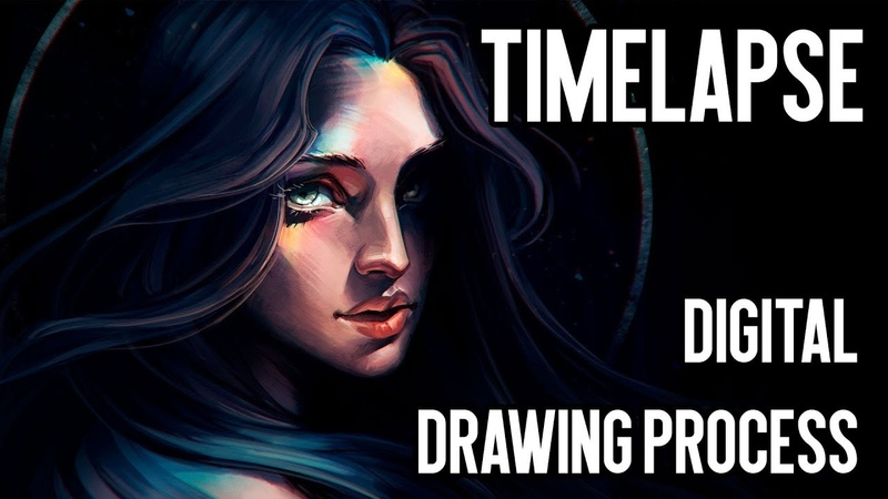 NIMBUS Timelapse: digital drawing process | Joe's ART