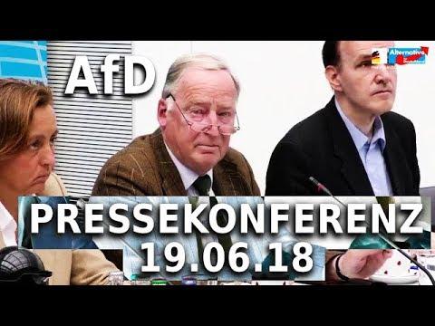 DANKE AFD DASS ES EUCH GIBT! Pressekonferenz 19.06.2018 Curio Baumann Gauland von Storch