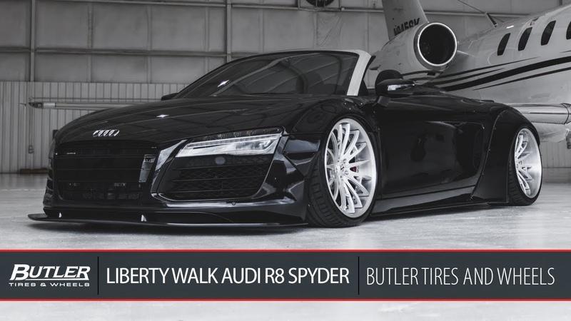 Liberty Walk Widebody Audi R8 Spyder | Savini SV75 Wheels | Butler Tire