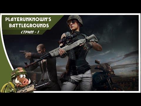 Стрим Playerunknown's Battlegrounds первые шаги новичков в pubg 1