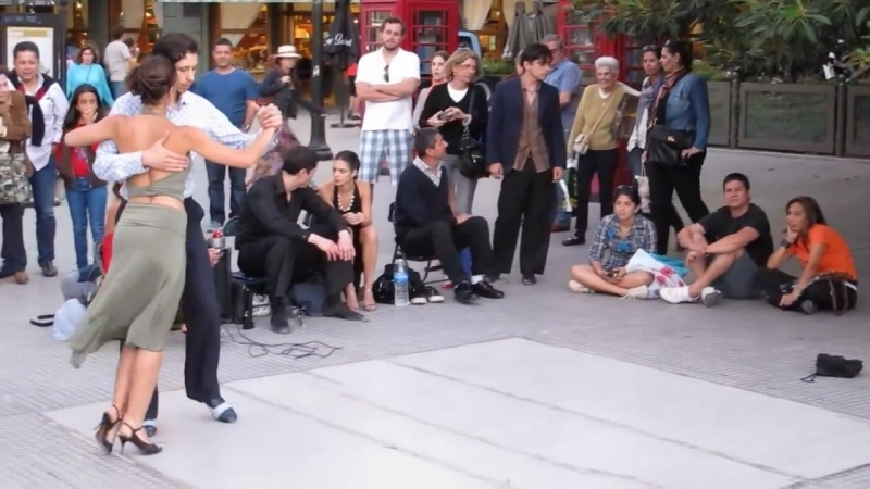 Argentine Tango Street Dancers in Buenos Aires - Nicholas Tapia