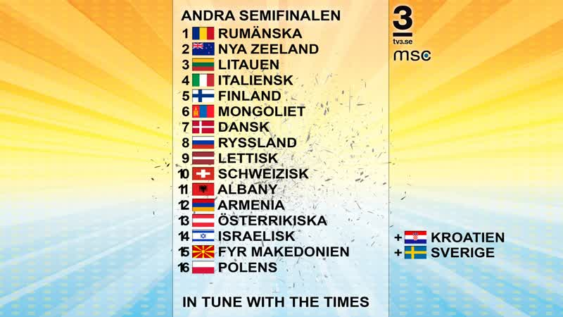 Millennium Song Contest 2016   Andra Semifinal