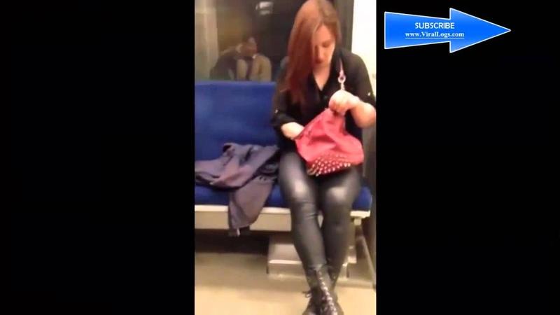 Девушка в метро чудит Posesión Walk In en metro de Edmonton Canadá