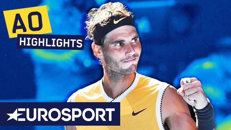 Rafael Nadal vs Tomáš Berdych Highlights | Australian Open 2019 Round 4 | Eurosport