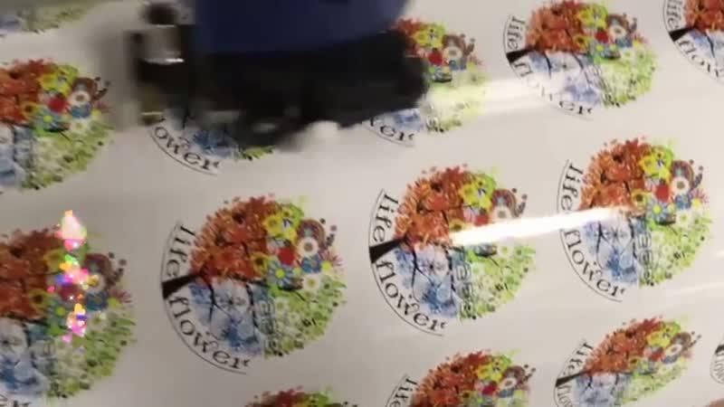 Печать наклеек на глянцевой немецкой пленке диаметром 7 см 4 руб шт для склада цветов @life flower34