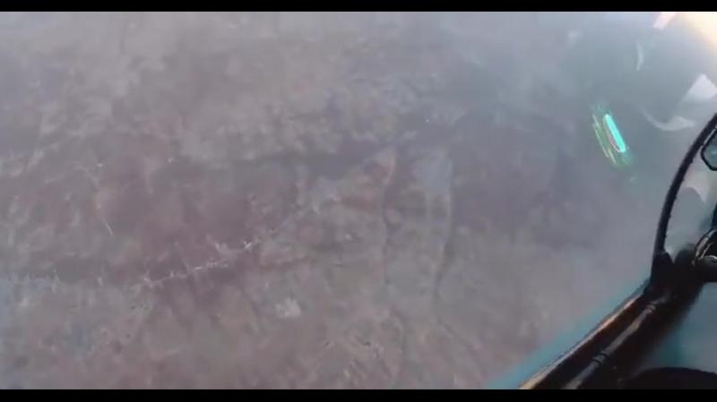Су-30СМ ВКС РФ встретил дрон в небе провинции Идлиб