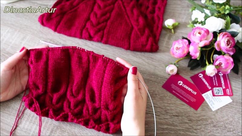 №2МК свитер с косами на ребенка 1-3 года спицами, вязание для детей, knit for kids, knit tutorial