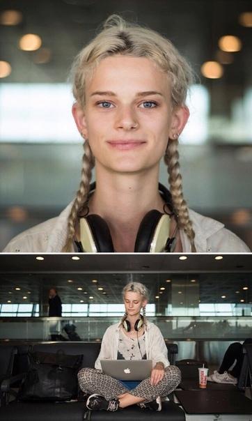 Занимательный и очень креативный проект! Фотограф Мустафа Канкая снимает людей в аэропортах мира.Его проект называется «Сто лиц из ста стран».Основной идеей проекта является показать красоту и