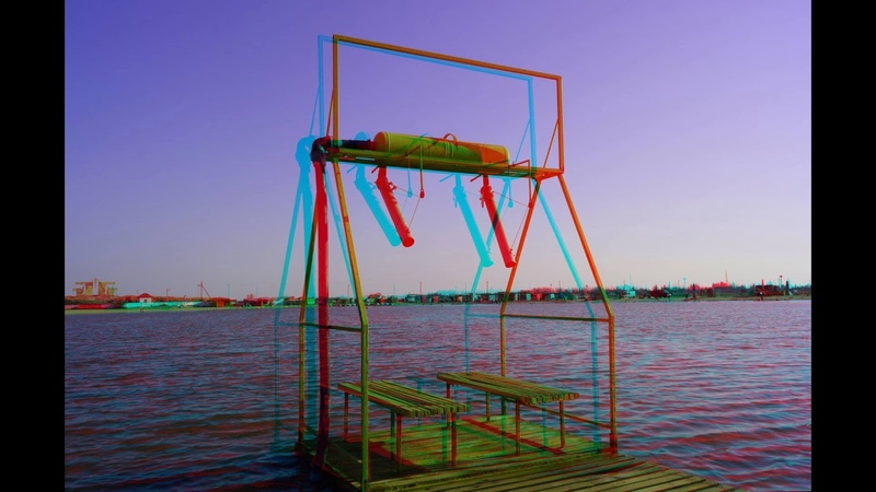 Neighborhoods of the Azov Sea Arabatskaya arrow 3d 2 PART Anaglyph