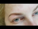 Перманентный макияж бровей сразу после процедуры 🦋Мастер Ольга Карп