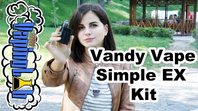 Vandy Vape Simple EX Kit. Сквонк-кит под солевой никотин