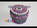 Como hacer un Joyero con tubo de carton y papel decorados con perlas. Manualidades faciles