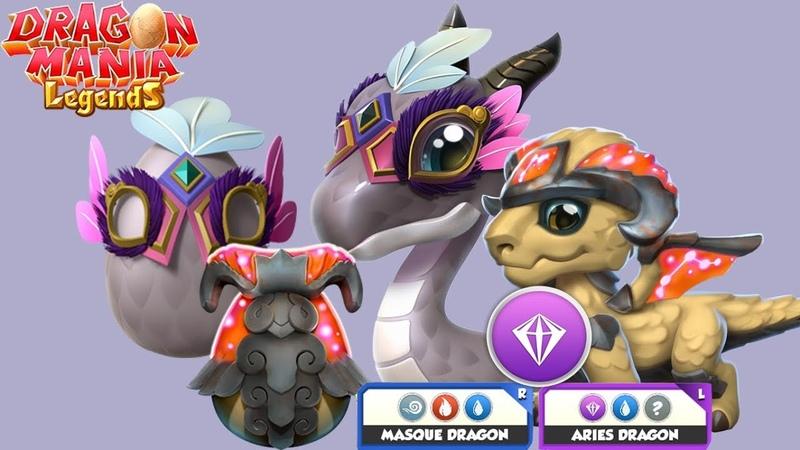 Aries Dragon Masque Dragon Hatching ! - Dragon Mania Legends Gameplay Walkthrough Part 1474 HD