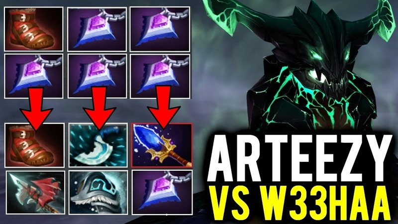 Arteezy Midlane vs w33 - From 5 Null Talisman to Scepter Build Outworld Devourer