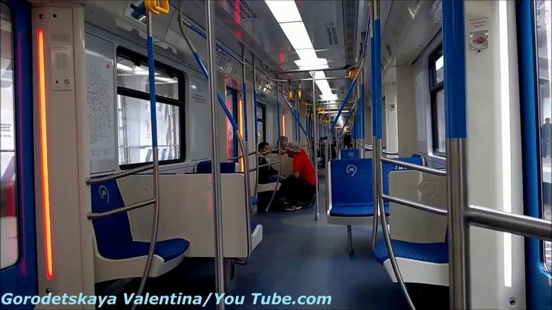 Поездка на модернезированном поезде Москва на Филевской линии
