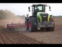 Claas Xerion 5000 cultivating with Horch Tiger 8 AS