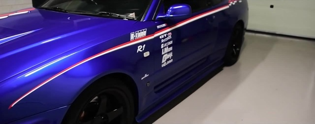 Detailing nissan skyline R34 GT R Nismo Omori R tune ( chassis 001 ) by Autoreiniging Centrale