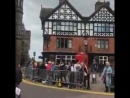 This is a terrible video of what Chester Town Hall and Storyhouse Theatre look like right now - fairly full, fairly packed. Stil