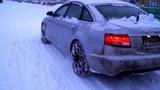 AUDI A6 C6 QUATTRO 225 HP vs of fresh snow Ценителям QUATTRO.