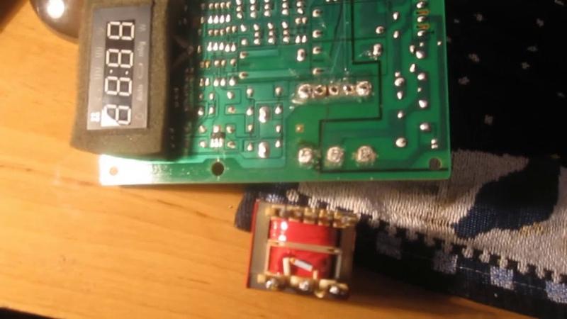 Ремонт трансформатора на плате микроволновки после скачка напряжения в сети. Термопредохранитель.