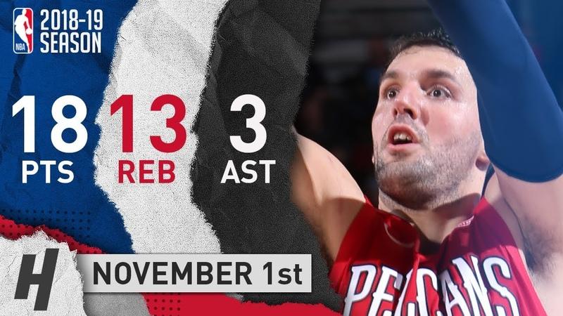 Nikola Mirotic Full Highlights Pelicans vs Blazers 2018 11 01 18 Pts 3 Ast 13 Rebounds