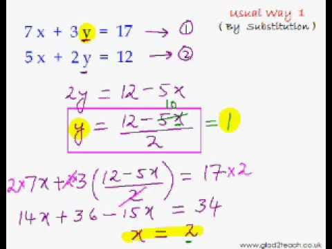 EasyCal 16 - Simultaneous Eqns Trick 1 - Quick Intro to Simulatenous Eqns