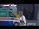 Leandro Silva of Coritiba Kicks Ball Into His Own Face against Goias