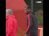 Моуриньо и Погба сегодня на тренировке