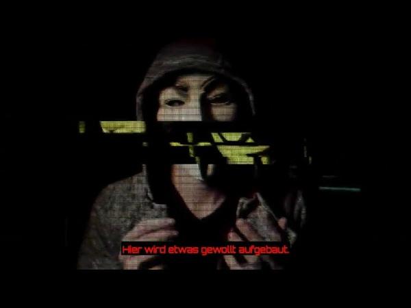 Anonymous Revolution Warnung vor Gelbe Westen Bewegung Seid friedlich un