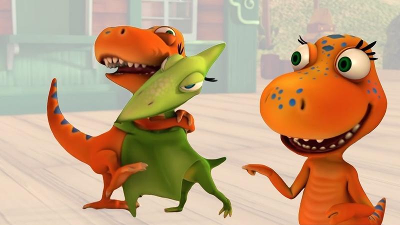 Мультфильм Поезд Динозавров - Встреча с Тираннозавром Энни
