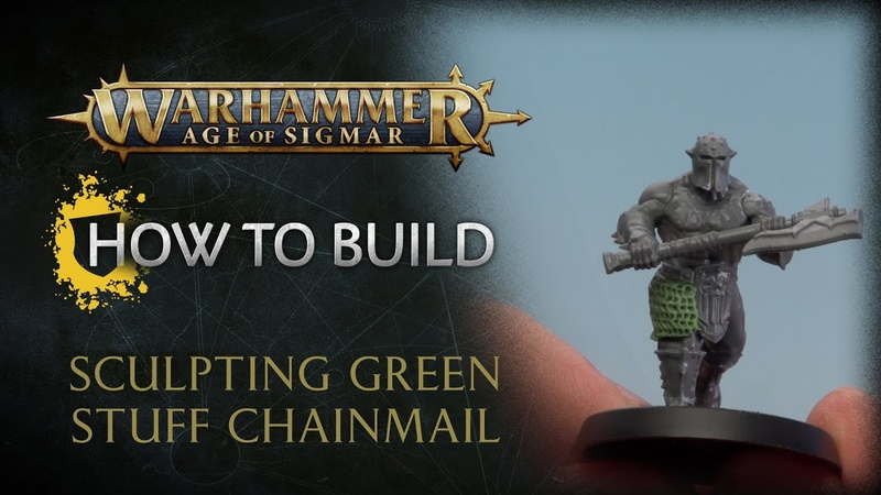 How to Build Sculpting Green Stuff Chainmail