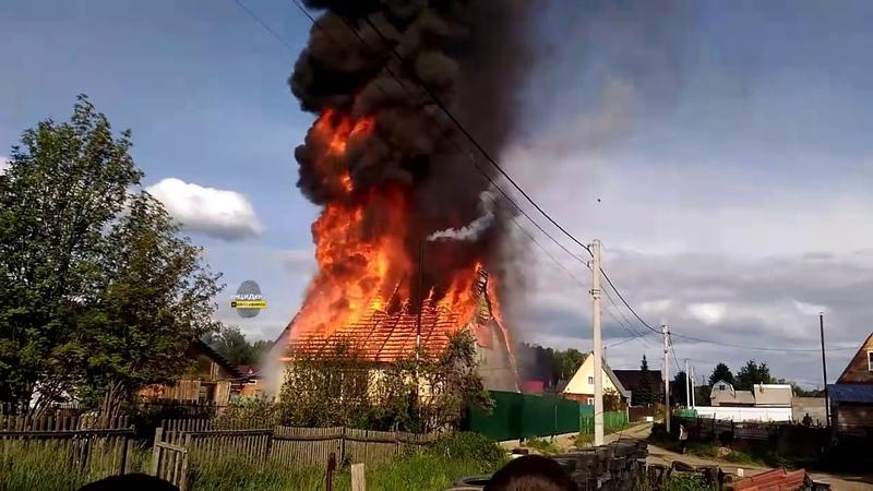 Пожар в дачном сообществе Заря