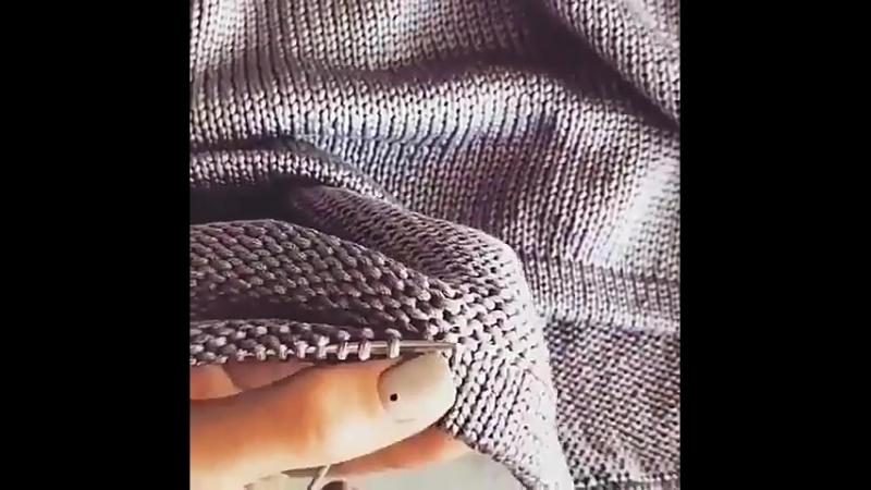 ♥Как подшить край вязания, чтобы красиво и не тянуло♥