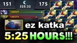 5 HOURS 25 MIN - EZ KATKA! - LONGEST DOTA 2 GAME EVER!!!