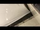 Натягивание потолка в ванной на Строителей 20