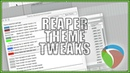 Recommended REAPER Theme Tweaks
