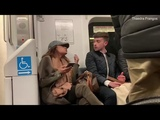 Femspreading passenger refuses to move her purse from a seat!!