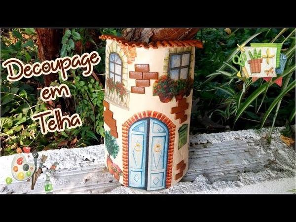 Decoupage em Telha Decoupage in roof tile