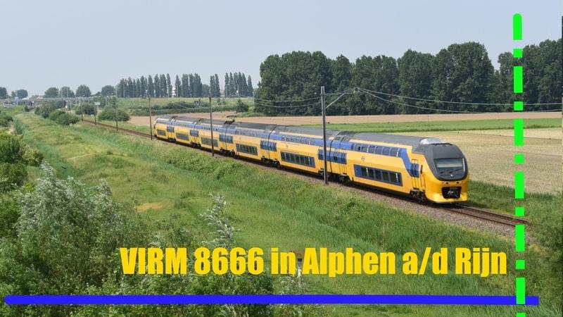 VIRM 8666 komt langs Alphen a/d Rijn