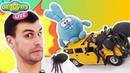 Смешарики: Дядя Бу и Крош играют в Гоночный Расколбас!