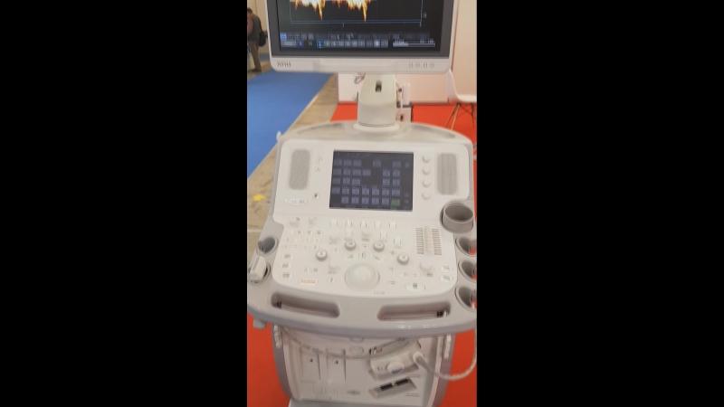 Toshiba Aplio MX на выставке Здравоохранение