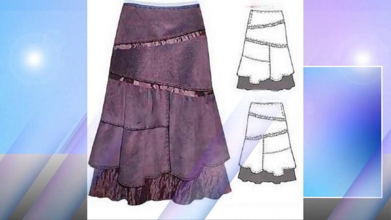 юбка бохо из клиньев