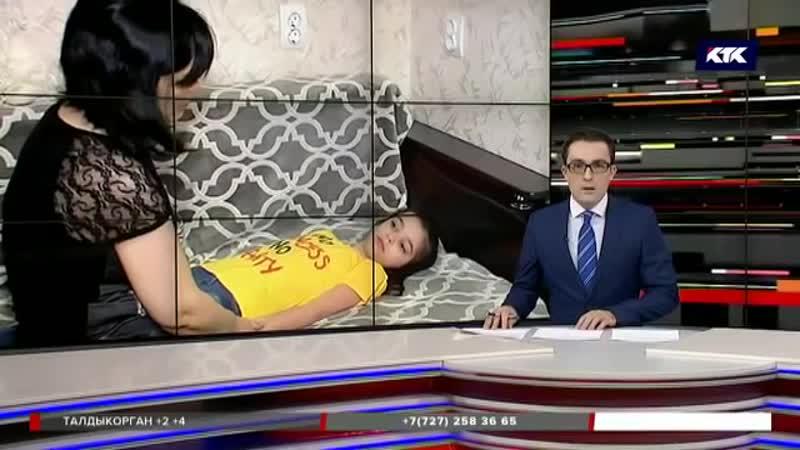 В спортивном центре Петропавловска на школьницу упал шкаф.mp4