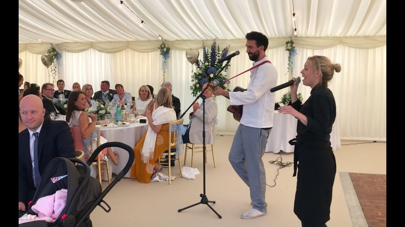 Singing Chef and Waitress Wow Wedding Guests and Make Groom Cry!