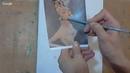 Рисуем вместе с Маргаритой Потороча. МК Прекрасная незнакомка